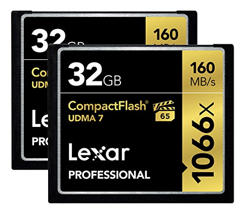 Lexar Professional 1066X 32GB (2-Pack) CompactFlash Cards