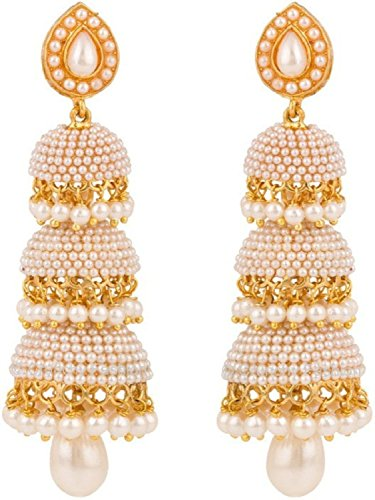 YouBella Pearl jhumka/Jhumki Earrings For Girls And Women