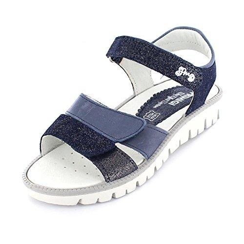 eb4351b1afd889 Primigi Mädchen PAX 7613 Offene Sandalen mit Keilabsatz Blau Silber Kombi