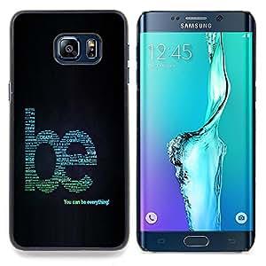 cool word art creative motivating Caja protectora de pl??stico duro Dise?¡Àado King Case For Samsung Galaxy S6 Edge Plus
