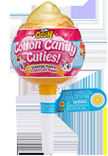 Oosh Slime - Series 1 Cotton Candy Cuties Pop (Yellow) by Zuru Toys (Image #1)