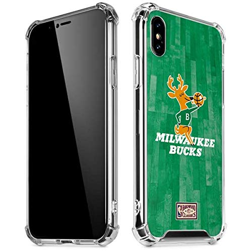 Skinit Milwaukee Bucks Hardwood Classics iPhone XR Clear Case - Officially Licensed NBA Phone Case Clear - Transparent iPhone XR Cover