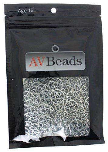 av-beads-100-piece-pentacle-pentagram-charms-20-x-17-mm