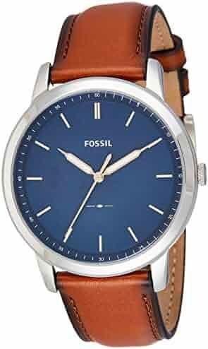 Fossil Men's FS5304 The Minimalist Three-Hand Light Brown Leather Watch