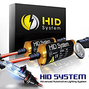 "HID SYSTEM Xenon Slim Conversion Kit with "" Smallest High Intensity Digital Ballasts "" 5000k / 5k / OEM White 9005 ( HB3 )"
