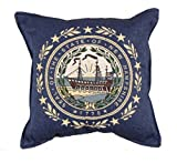 Flag of New Hampshire Decorative Tapestry Toss Pillow USA Made