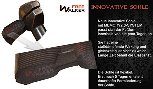 Echtes Leder ® Schafwolle FreeWALKER Braun Herren Hausschuhe 100 100 qAp77W4U