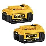 DEWALT DCB204-2 20V Max Premium XR Li-Ion Battery, 2-Pack