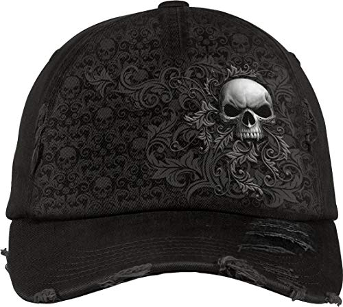 Spiral – Skull Scroll – Baseball Caps Ditressed with Metal Clasp