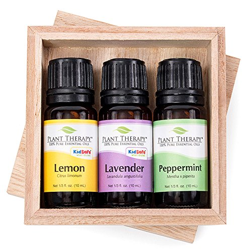 Mint Lavender Lemon - Plant Therapy Lemon, Lavender and Peppermint Essential Oil Set 10 mL (1/3 oz) 100% Pure, Undiluted, Therapeutic Grade