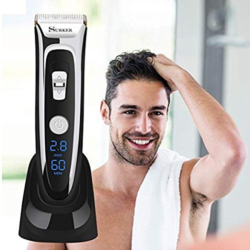 Disnail Hair Clippers Shavers Cutter Clippers For Men Hair Trimmer LED Display Haircut Kit Ceramic Blade Cordless Rechargeable