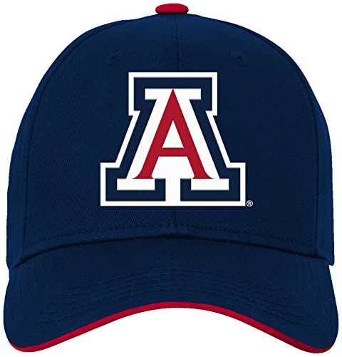 NCAA by Outerstuff NCAA Arizona Wildcats Toddler Basic Structured Adjustable Hat, Dark Navy, Toddler One Size -