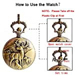 BOSHIYA Men's Pocket Watch Perfect Anniversary Gift Classic Vintage Quartz Watch Animal Deer Pocket Watch Accessories 14