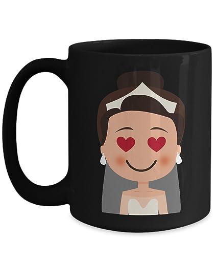 Amazon Com Shirt White Wedding Emoji Bride Heart Eye Coffee Mug