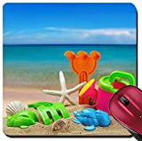 Liili Suqare Mousepad 8x8 Inch Mouse Pads/Mat toys for childrens sandboxes against the sea and the beach 28412835