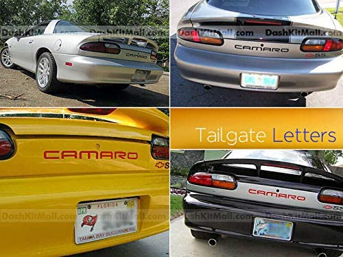 SF Sales USA Red Rear Bumper Letters for Camaro 1992-2002 Rear Inserts Not Decals
