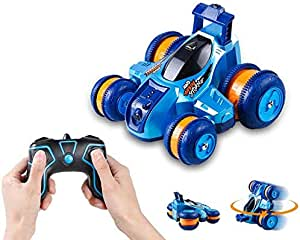 Innoo Tech RC Stunt Car Rechargeable Racing Car with 2.4Ghz Remote Control, High Speed Car Toys 4WD Double Sided 360° Spins and Flips Driving Car Toys for Kids Boy, Blue