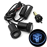iNewcow Cool Pale Skull Ghost Devil Car Door LED Projector Light Courtesy Welcome Logo Light Shadow Ghost Laser Lamp With Gift Card (1 Pair)