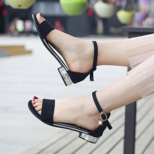 Perruque Mulet Orteil Semelles Lady Femmes Beautyjourney Noir summer Tongs Sandales Coupe Plates Sexy Ouvert Compensées Chaussures Gladiateurs q8YtOZw