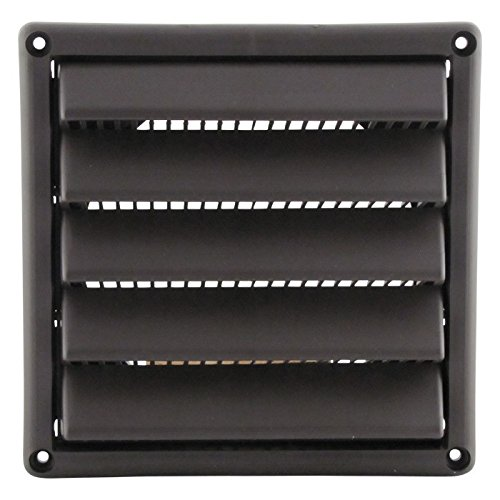 Plastic Wall Vent with Fixed Louvers 4 Inch White (Plastic Wall Vents)