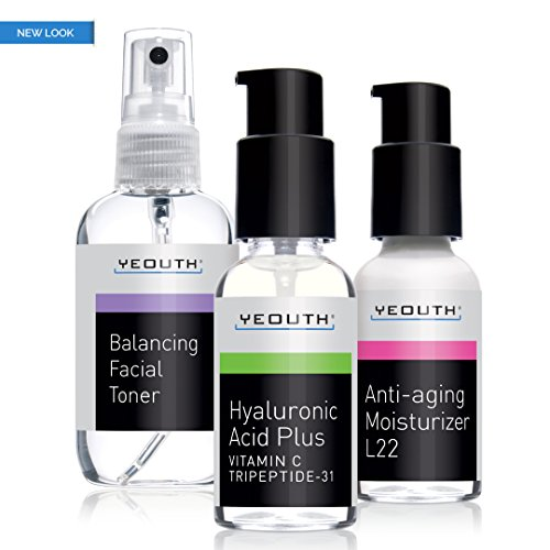 Best Anti Aging 3 Pack Skin Care System by YEOUTH, Professional Grade...