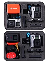 Smatree SmaCase G160 Carrying Case for Gopro Hero 5,4, 3+, 3, 2, 1-(Camera and Accessories NOT included)-Full Black