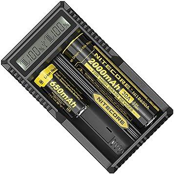 Nitecore Um20 Usb Ladegerät Mit Lcd Display Für Li Ion Elektronik