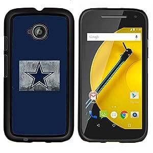 Stuss Case / Funda Carcasa protectora - Estrella azul - Motorola Moto E2 E2nd Gen