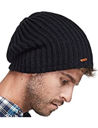 c4cec3805ee Winter Beanie Skull Cap Warm Knit Fleece Ski Slouchy Hat for Men   Women