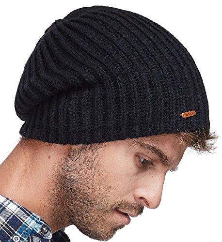 df5ee54c7bd5d LETHMIK Winter Beanie Skull Cap Warm Knit Fleece Ski Slouchy Hat for Men    Women