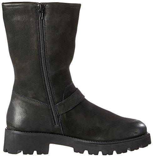 SPM Ariafur Ankle Boot, Stivaletti Biker Donna Nero (Black 01001)