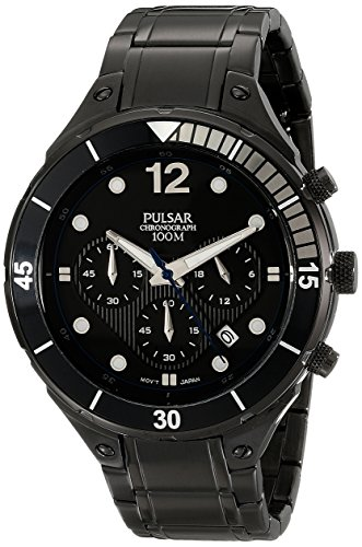 Pulsar Men s PT3637 Analog Display Analog Quartz Black Watch