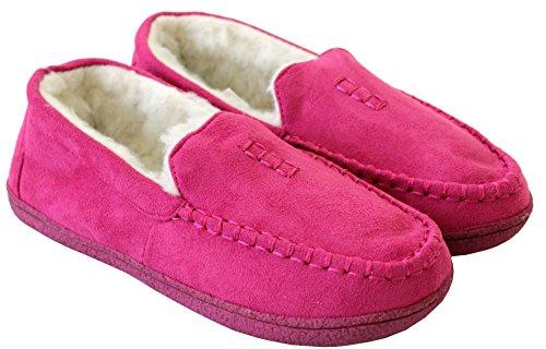 A&H Footwear - Zapatillas de estar por casa para mujer S fucsia