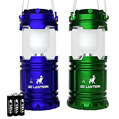 MalloMe LED Camping Lantern Flashlights For Backpacking & Camping Equipment Lights - Best Gift Ideas (6 AA Batteries Included)