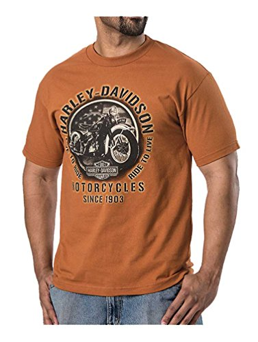 Harley Davidson Vintage Sleeve T Shirt Orange