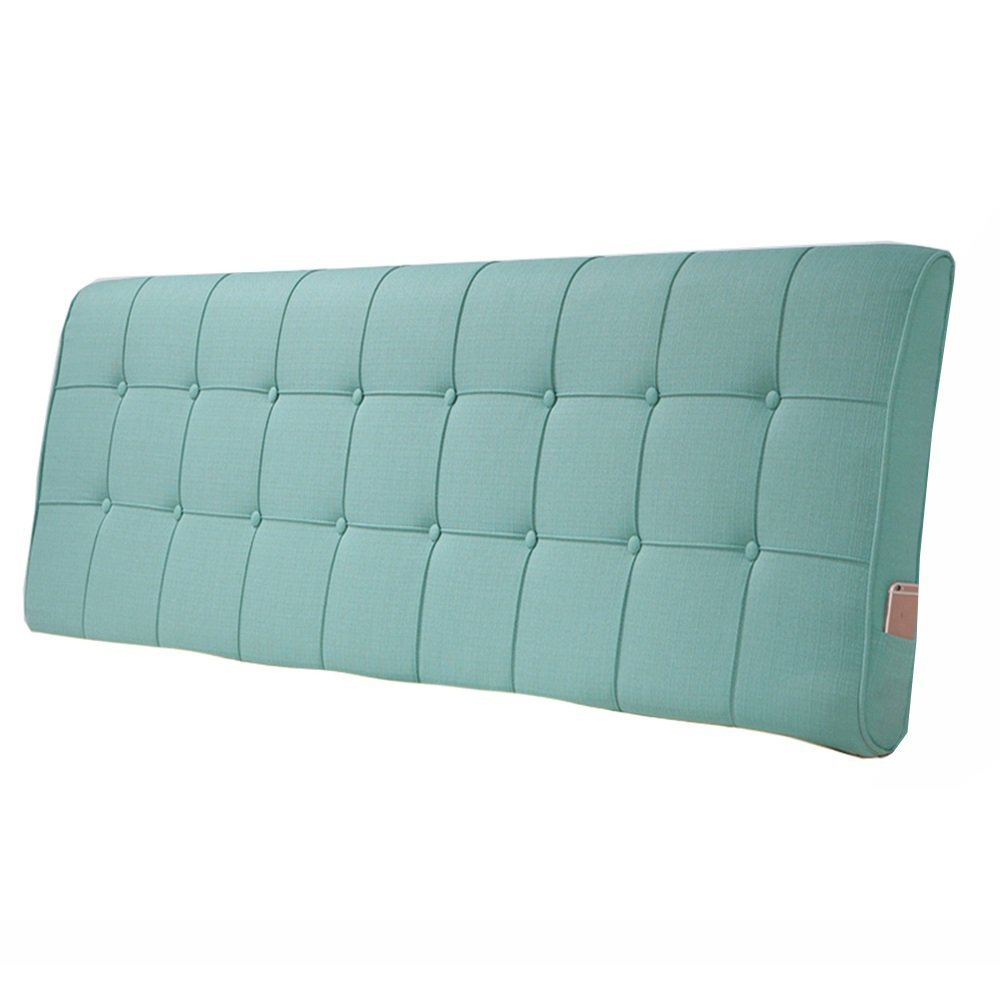 Cushions No headboard linen pillowcase anti-collision head against the wall back support backrest 5 colors-5 size optional (Color : D, Size : 901060cm)