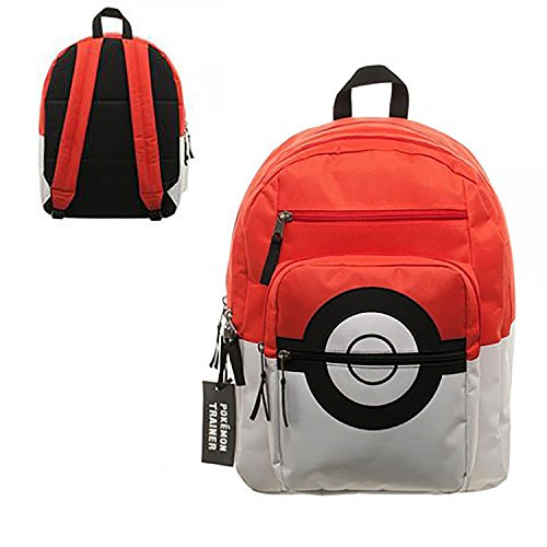 BIOWORLD Pokemon Pokeball Backpack with Trainer Bag Charm Photo - Pokemon Gaming