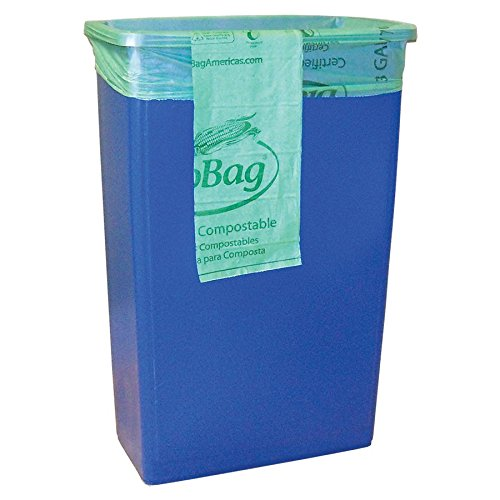 BioBag Compostable Bags - 23 Gallon Trash Can Liners - Case of 120 bags