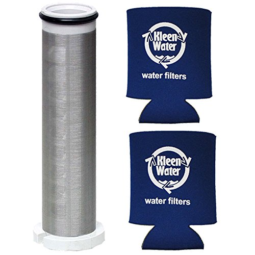 1 Inch 250 Mesh Sediment Stopper Spin-Down Sand Separator Replacement Filter Screen SFS-250 / Two Genuine KleenWater Can Holders (Separators Dirt)