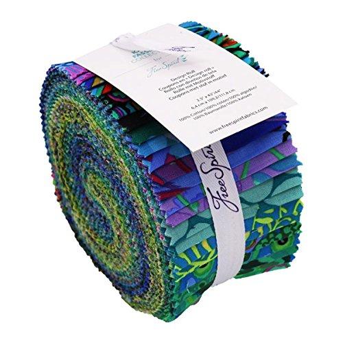 Free Spirit Fabrics Kaffe Fassett Collective Island Design Roll with 40 Strips 2.5 by 44 (Fassett Designs Kaffe)