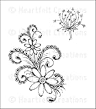 Heartfelt Creations Daisy Flourish Cling Rubber Stamp