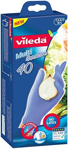 Vileda Multi Sensitive latexfreier Einmalhandschuhe Größe M/L , 80er Vorratspack  (2 x 40 Stück)