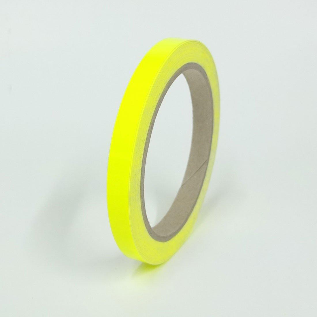 10m Rolle Signalfarbe CANOSIGN Zierstreifen Neon Gelb Fluoreszierend 5mm