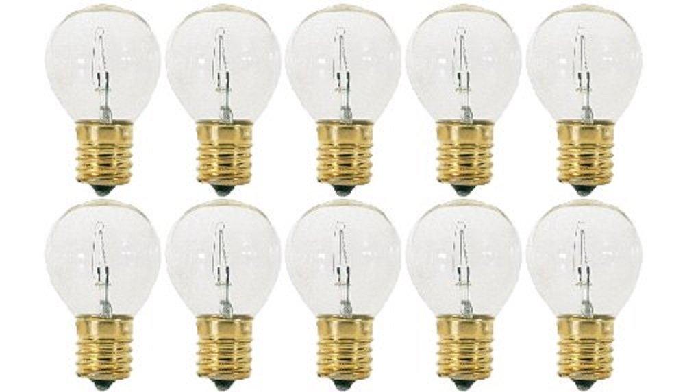 Pack Of 10 40S11/N/C 40 Watt S11 E17 Intermediate Base Hi-Intensity Light Bulbs, Clear