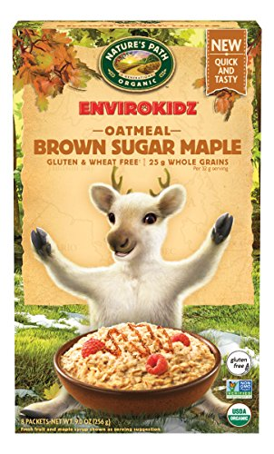 Nature's Path EnviroKidz Brown Sugar Maple Instant Hot Oatmeal, Healthy, Organic, Gluten-Free, 9 Ounce Box