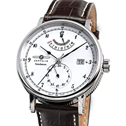 Zeppelin Watches Men's Automatic Watch 7560-1 with Leather Strap