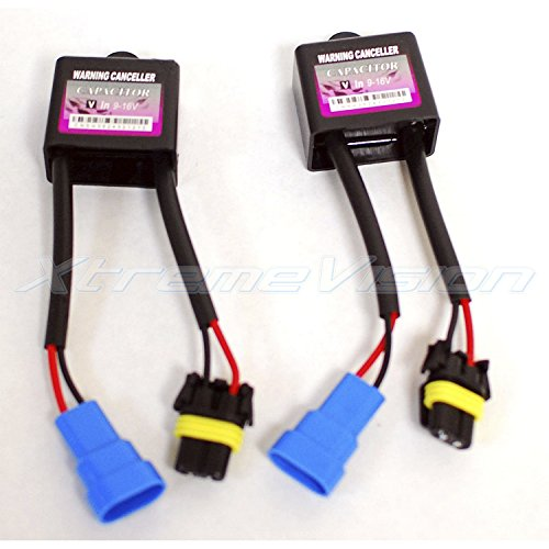 XtremeVision HID Anti Flicker Canceller Capacitor Decoder Plug and Play Error Free (1 Pair)