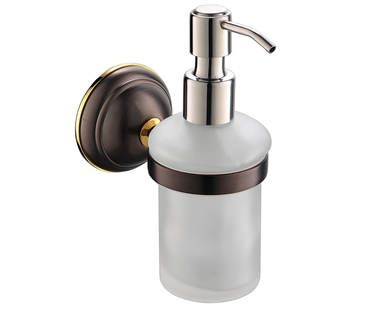Amazoncom Crown Hand Soap Dispenser Oil Rubbed Bronze Wall Mount