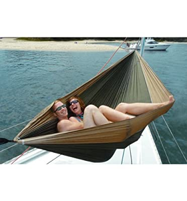 """Hammock Bliss Double - XL Portable Hammock - Quality Material & 100"""" Rope Included Each Side - Great For Couples, Perfect for Camping, Travel & Adventure"""