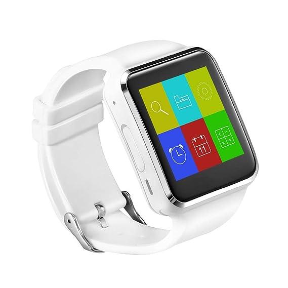 Moda Hombres Mujeres X6 1.54 Pulgadas LCD Pantalla Táctil Bluetooth Reloj Inteligente Pulsera Monitorización del Sueño Reloj SIM con Cámara: Amazon.es: ...